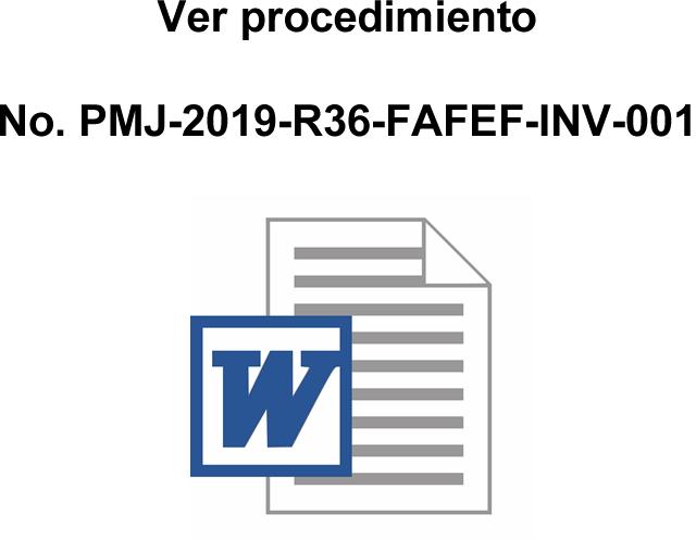 No. PMJ-2019-R36-FAFEF-INV-001