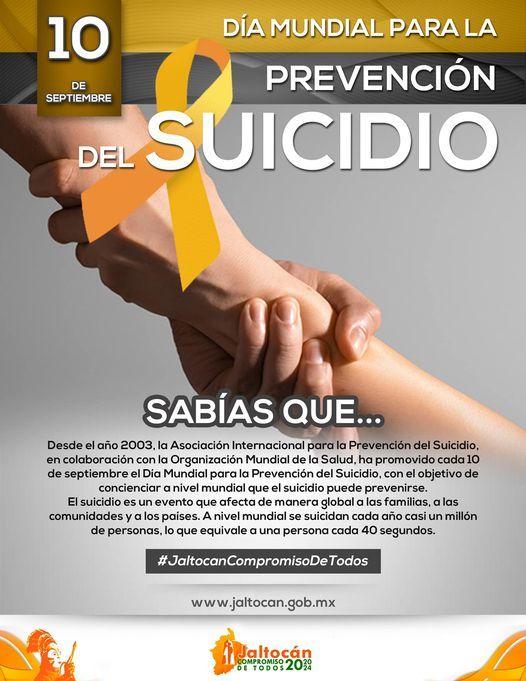 DIA MUNDIAL DE LA PREVENCIÓN DEL SUICIDIO