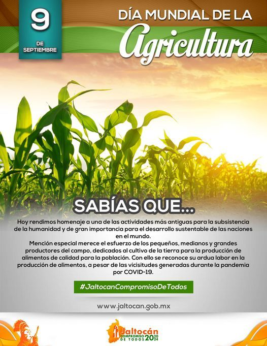 DÍA MUNDIAL DE LA AGRICULTURA